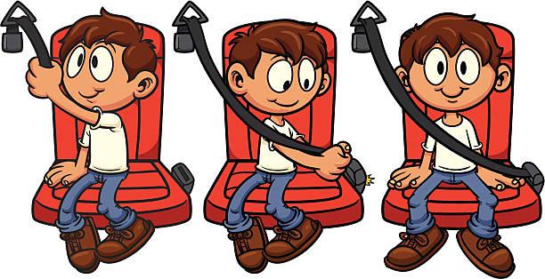 Best Seatbelt Illustrations, Royalty.