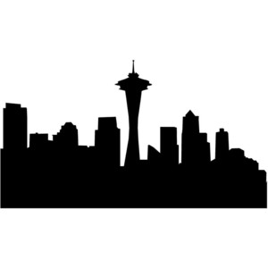 Seattle Skyline Clipart.