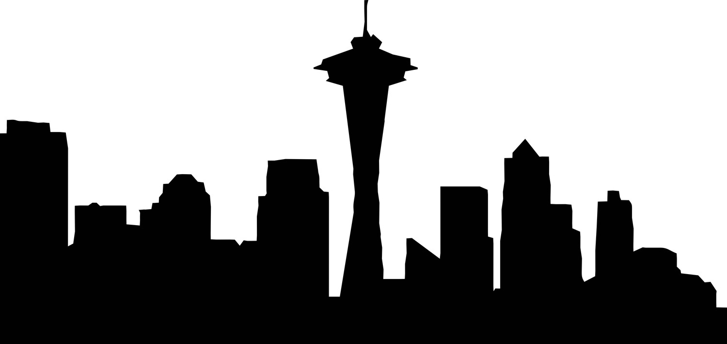 Free Seattle Skyline Silhouette Png, Download Free Clip Art.