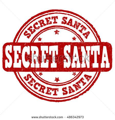 Secret Santa Clipart Black And White.
