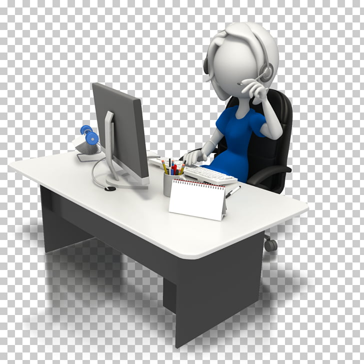 Computer desk Secretary Office , telemarketing PNG clipart.