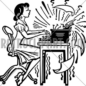 Clipart Secretary Typing Clipground