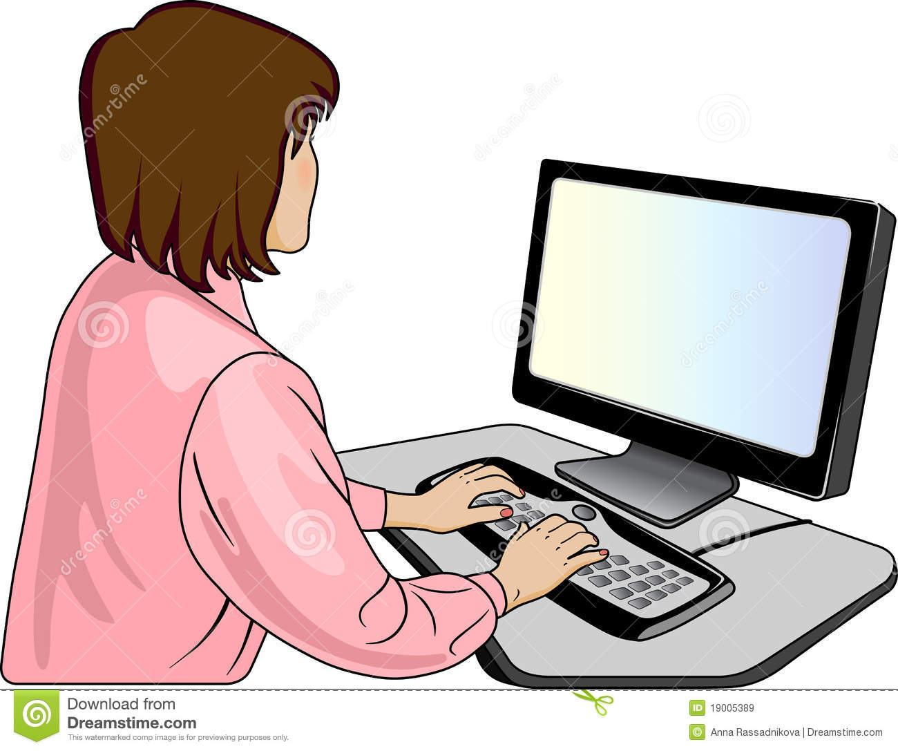 image envision clipart sky blue guy characters work at computers #13