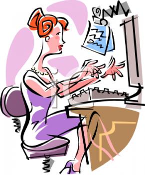 Secretary Typing.