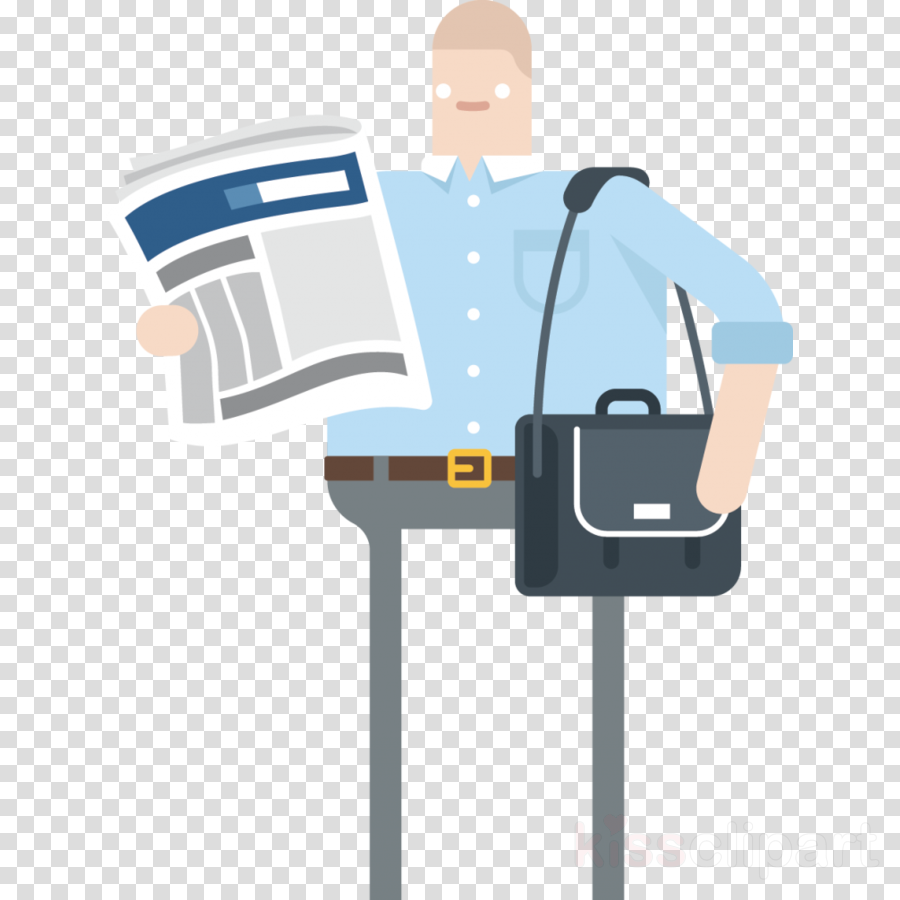 standing job parking meter security uniform clipart.