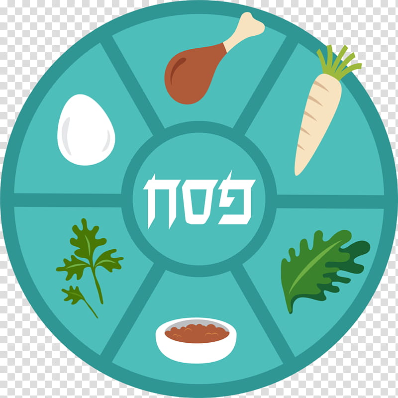 Passover Seder plate transparent background PNG cliparts.