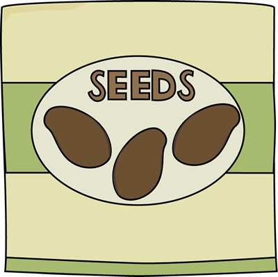 Free graphics for teachers Seed Packet.