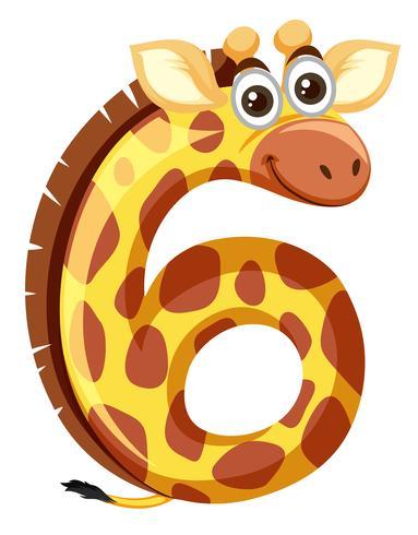 Giraffe on number six.