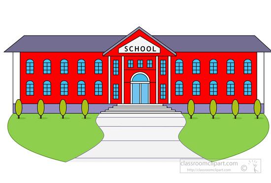 1531 School Building free clipart.