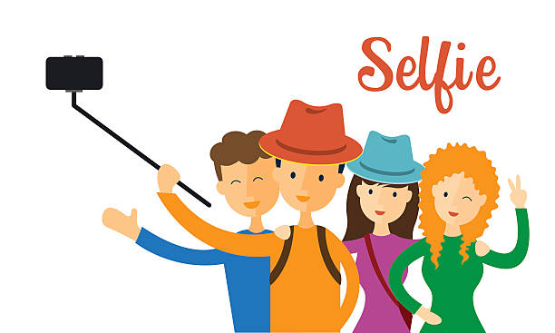 Selfie With Friends Clipart.