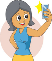 Selfie Animated Clipart.