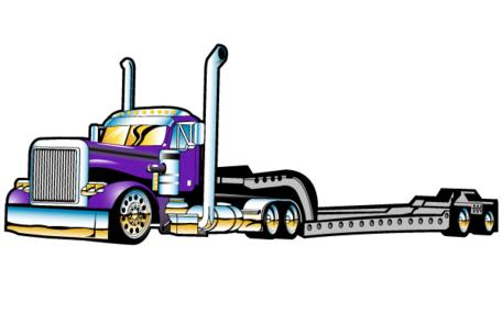 Flatbed Semi Truck Vector Free Clipart Picture Free Download.