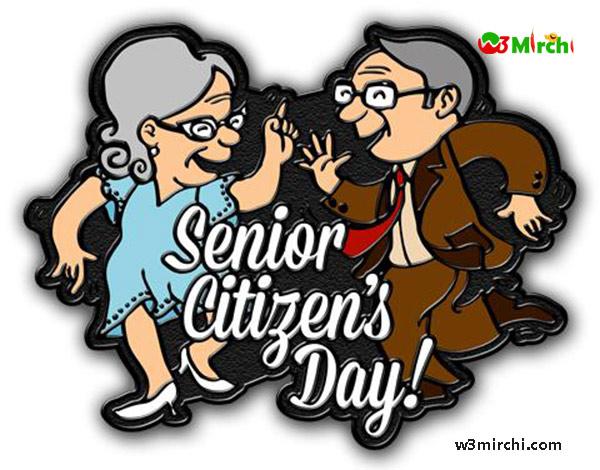 Senior Citizen Day Dancing Clipart.