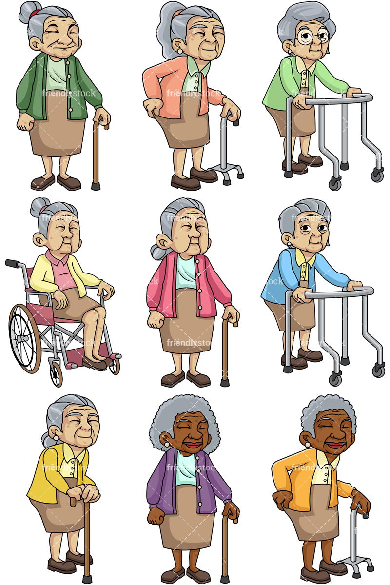Frail female senior citizens.