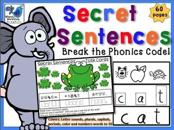 Secret Sentences 1 with Phonics Codes.