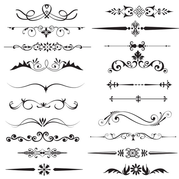 Page divider clipart,Text Divider Clipart,Decorative.