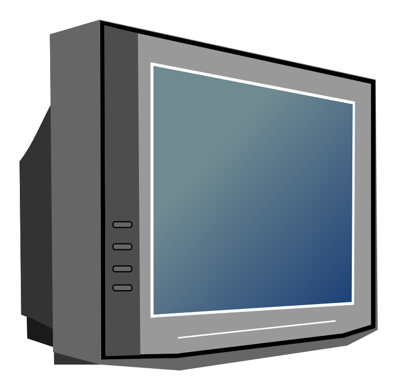 Television Set Clipart.