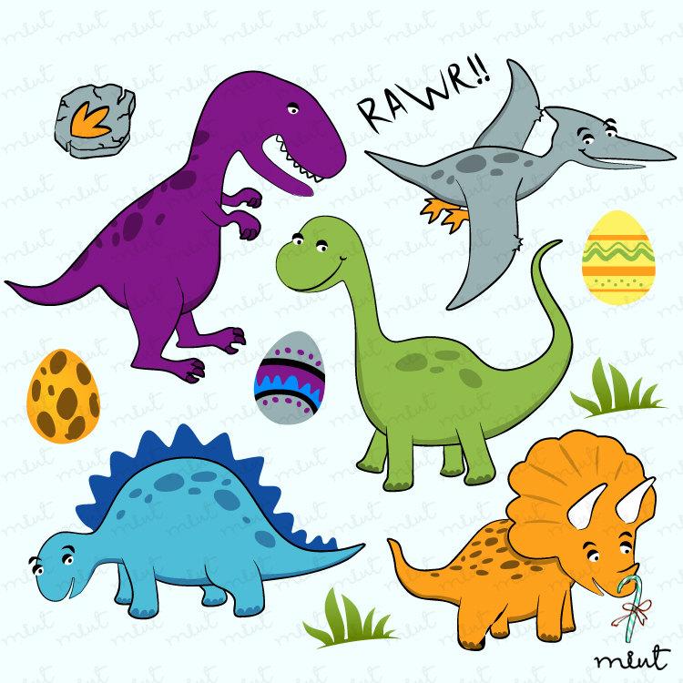 Dinosaur Digital clip art set.