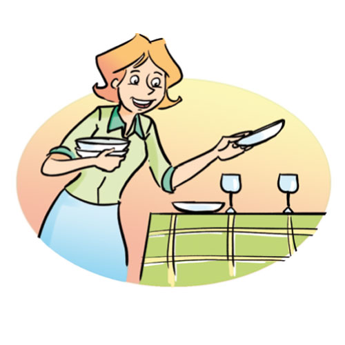 To Set The Table Clipart.
