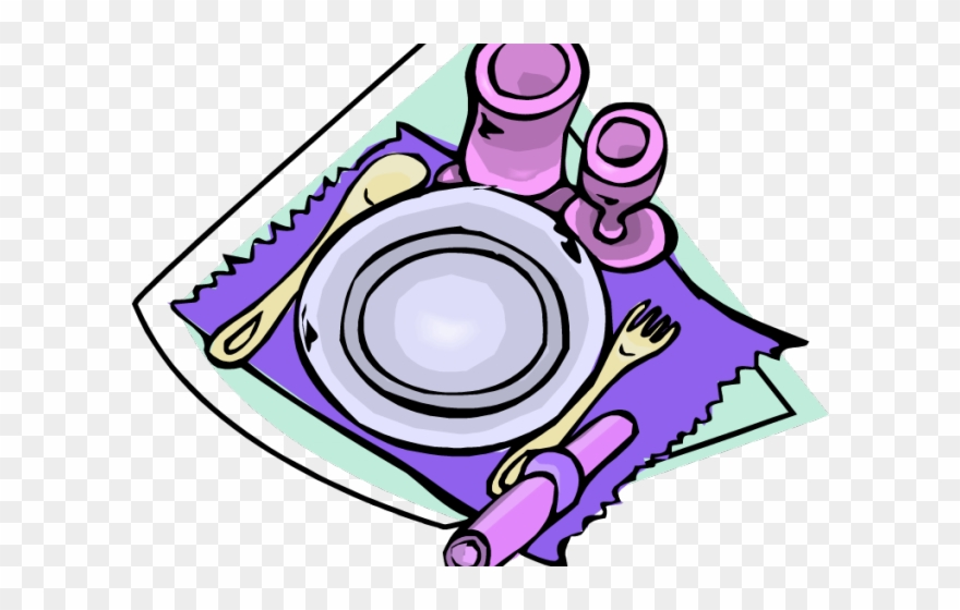Dining Table Clipart Table Setting.