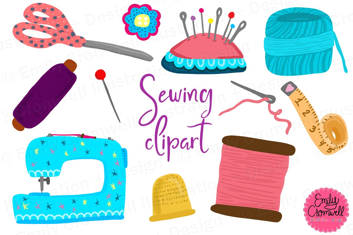 Sewing Clipart ~ Illustrations ~ Creative Market.
