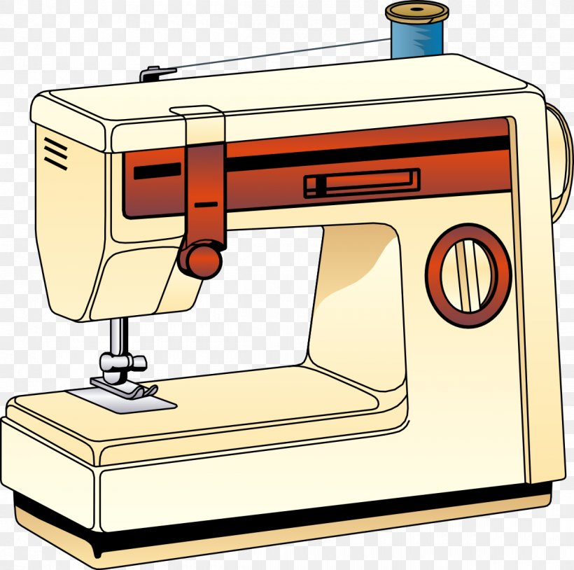 Sewing Machine Clip Art, PNG, 1200x1192px, Sewing Machine.