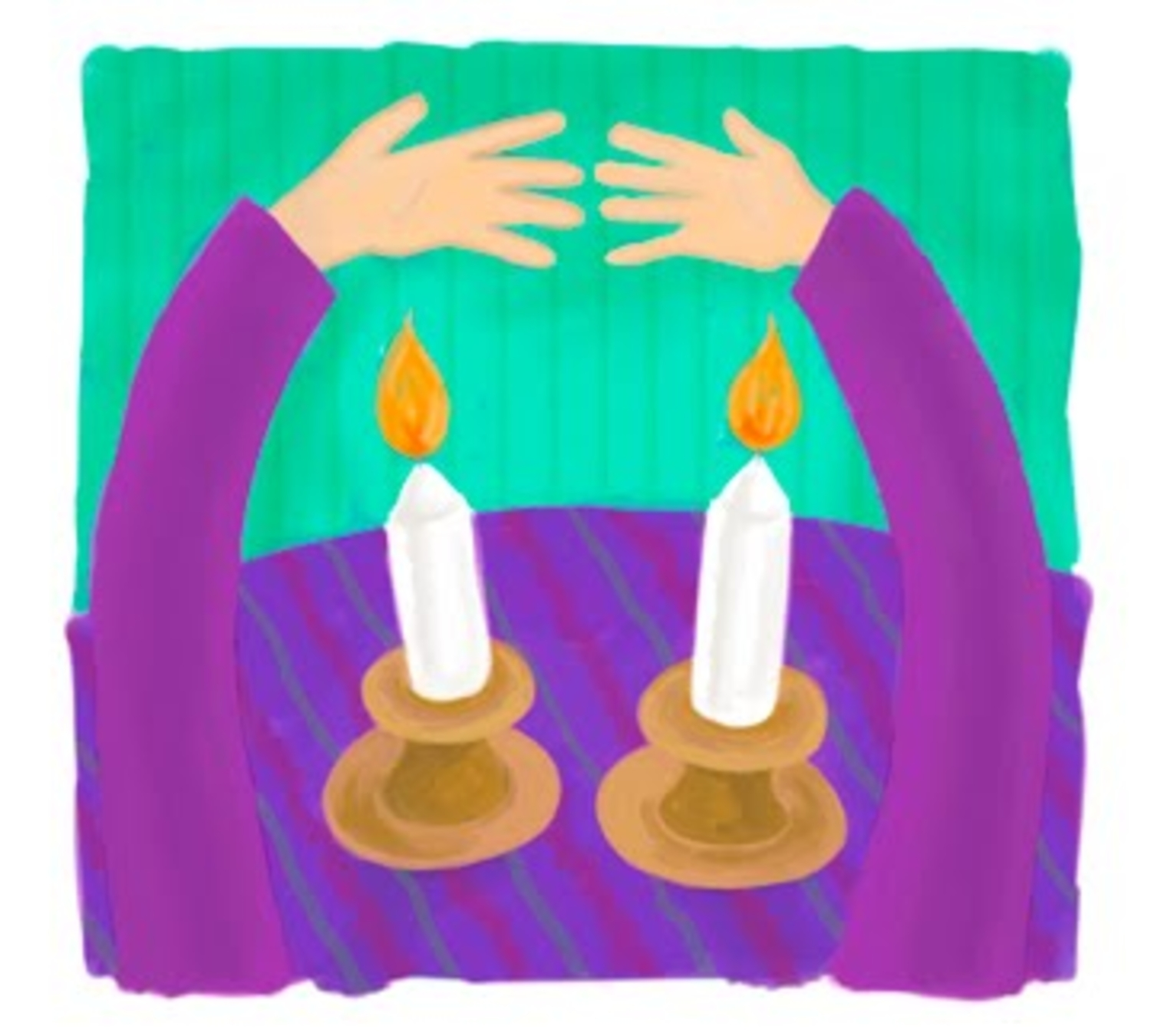 Shabbat Candles Clipart Viewing free image.