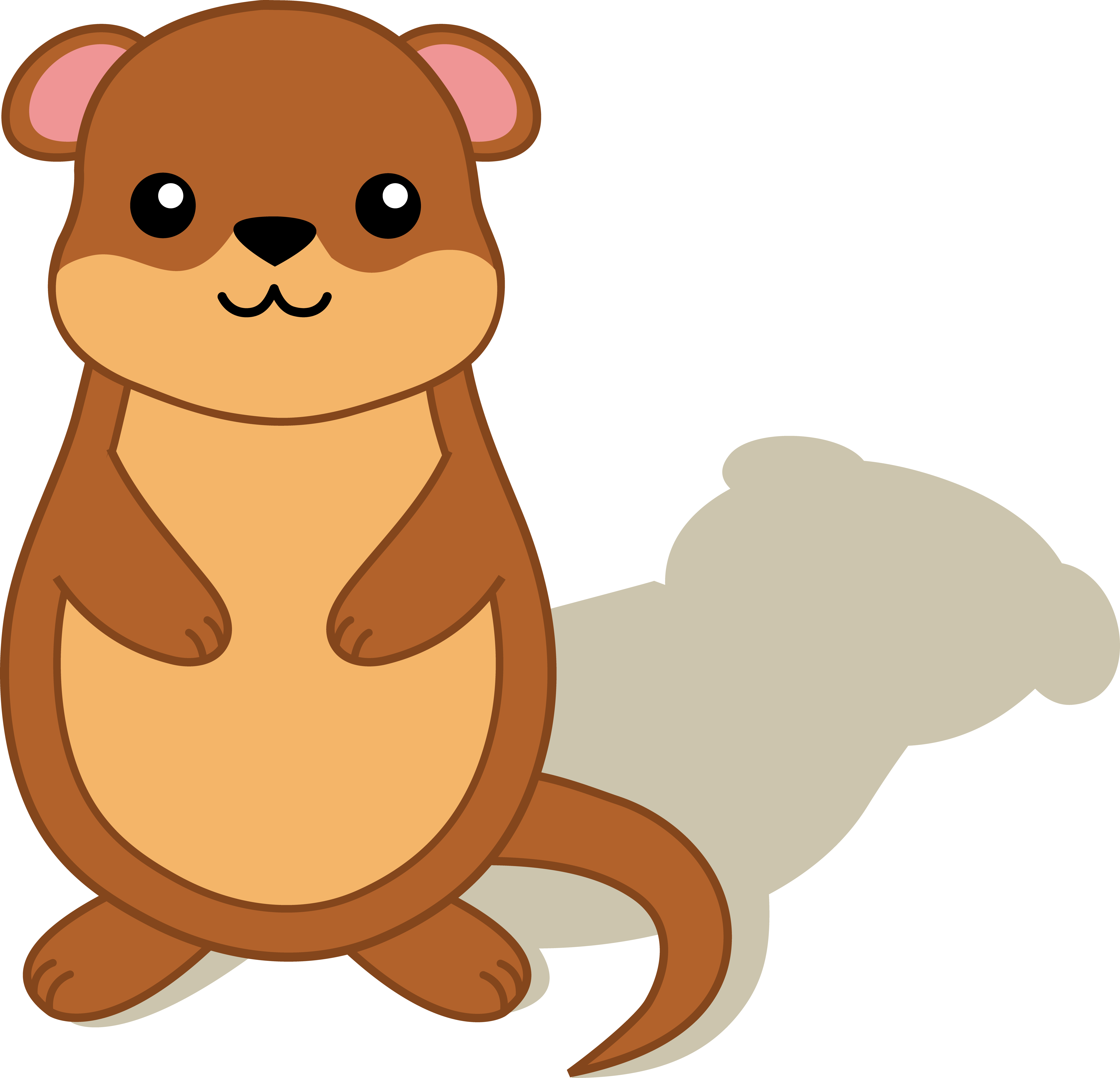 Groundhog Shadow Clipart.