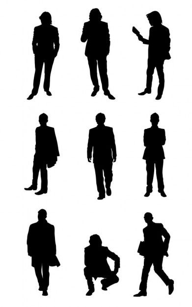 silhouette people.