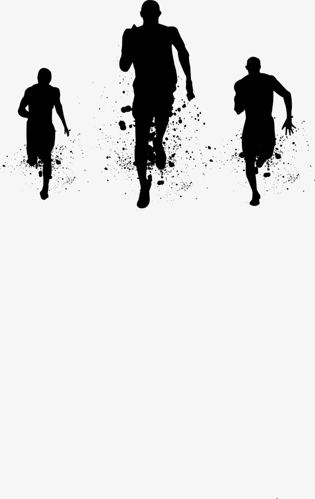 People Running, Run, Silhouette Figures, Silhouette PNG Transparent.