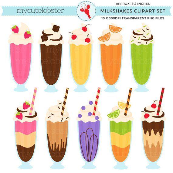 Milkshakes Clipart.