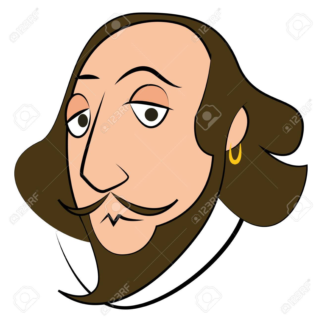 Isolated Shakespeare character on a white background, Vector...