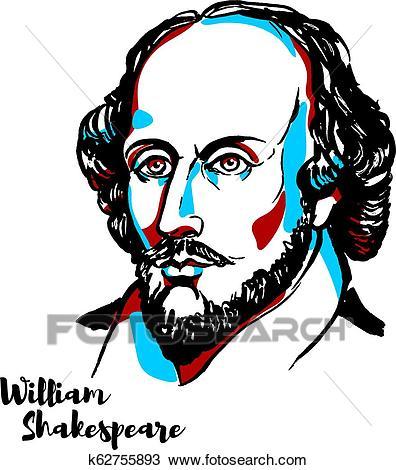 William Shakespeare Clipart.