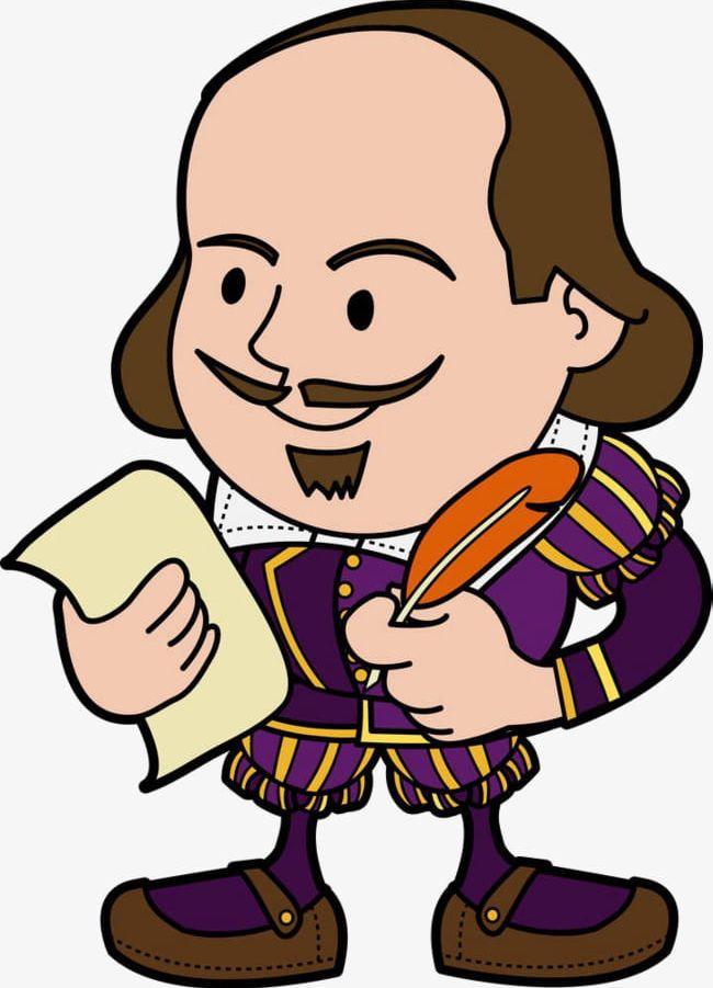 Shakespeare Cartoon Illustration PNG, Clipart, Apparel, Boys.