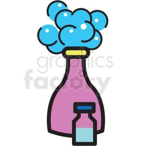 shampoo bottle vector icon clipart . Royalty.