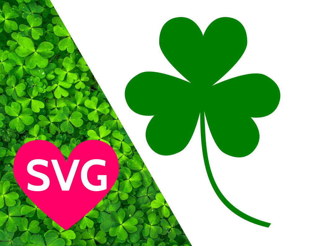 St Patricks Day Shamrock SVG file, Shamrock Clipart, Shamrock DXF.