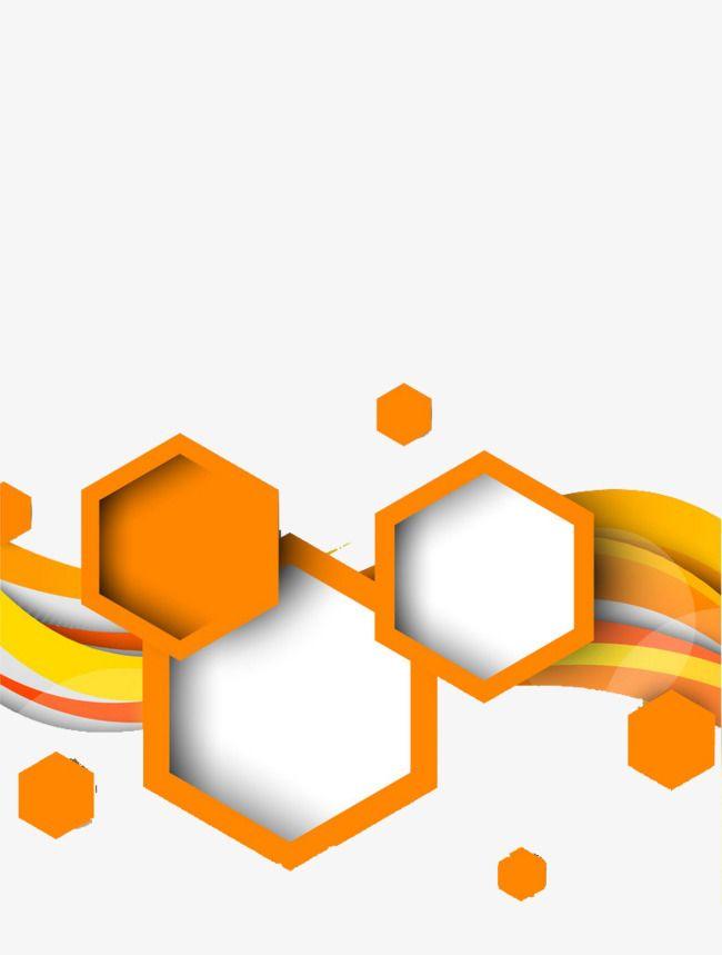 Orange Art Deco Picture Material, Orange Clipart, Art.