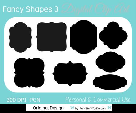 Fancy Shapes & Labels 3.