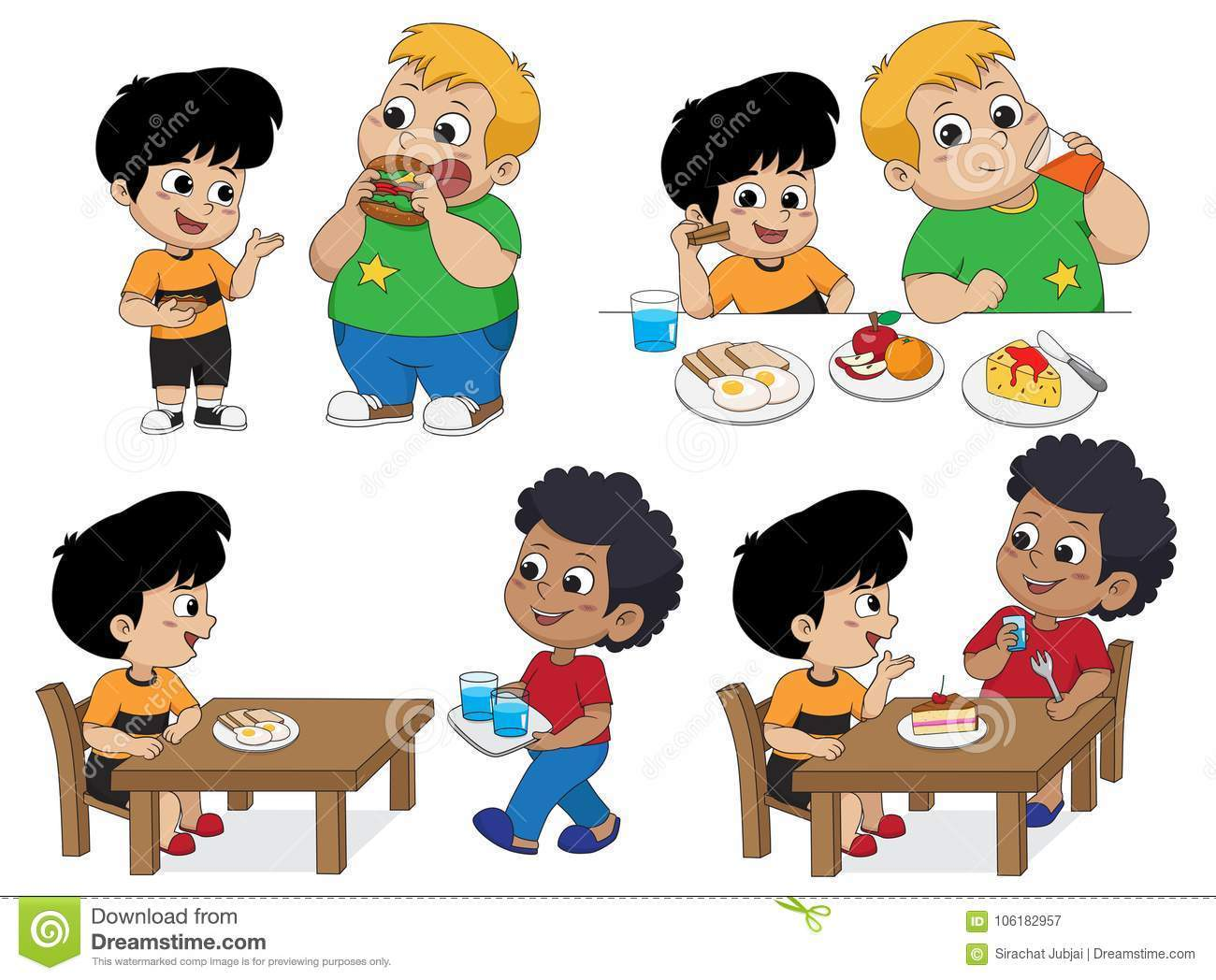 Sharing food with friends clipart 7 » Clipart Portal.