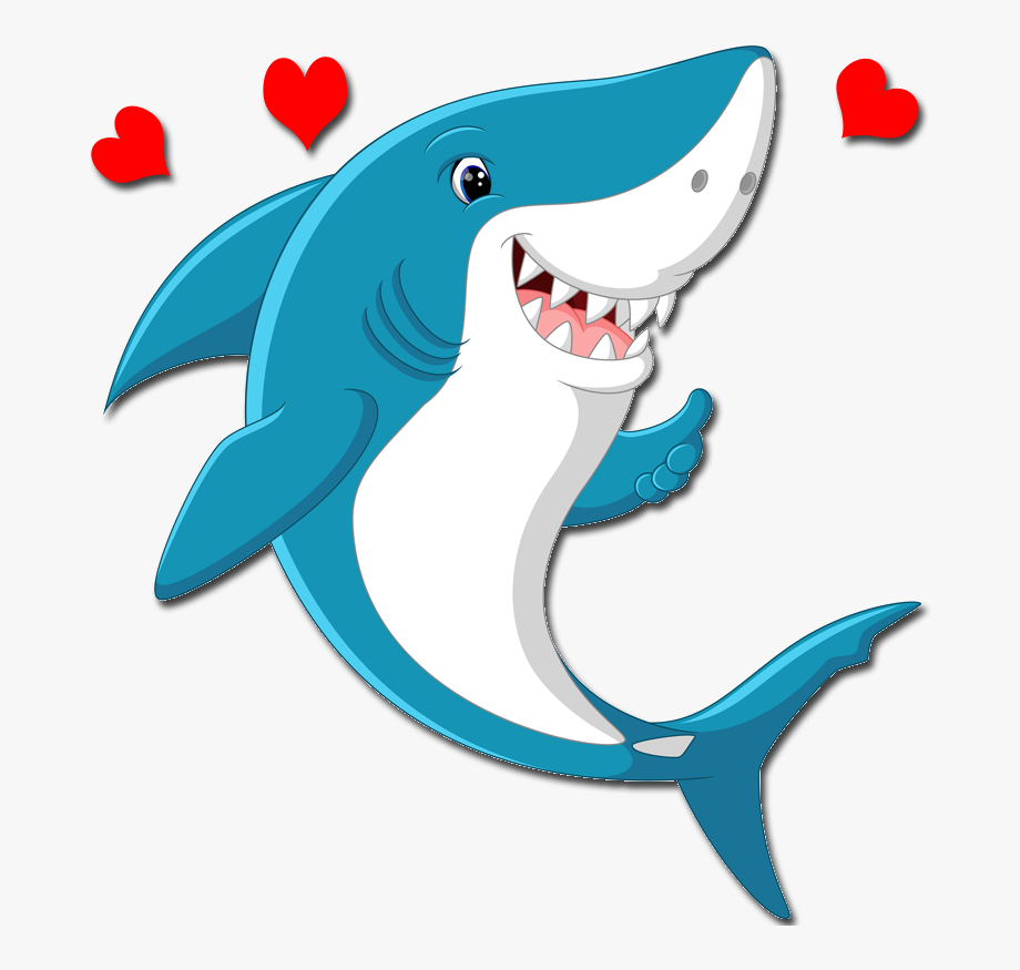Cute Cartoon Shark Clipart , Png Download.