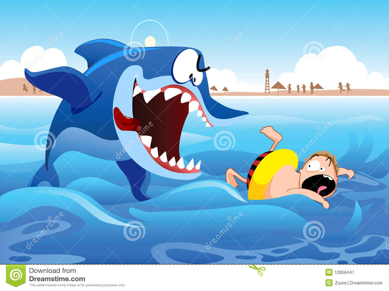 Shark Attack Royalty Free Stock Photography.