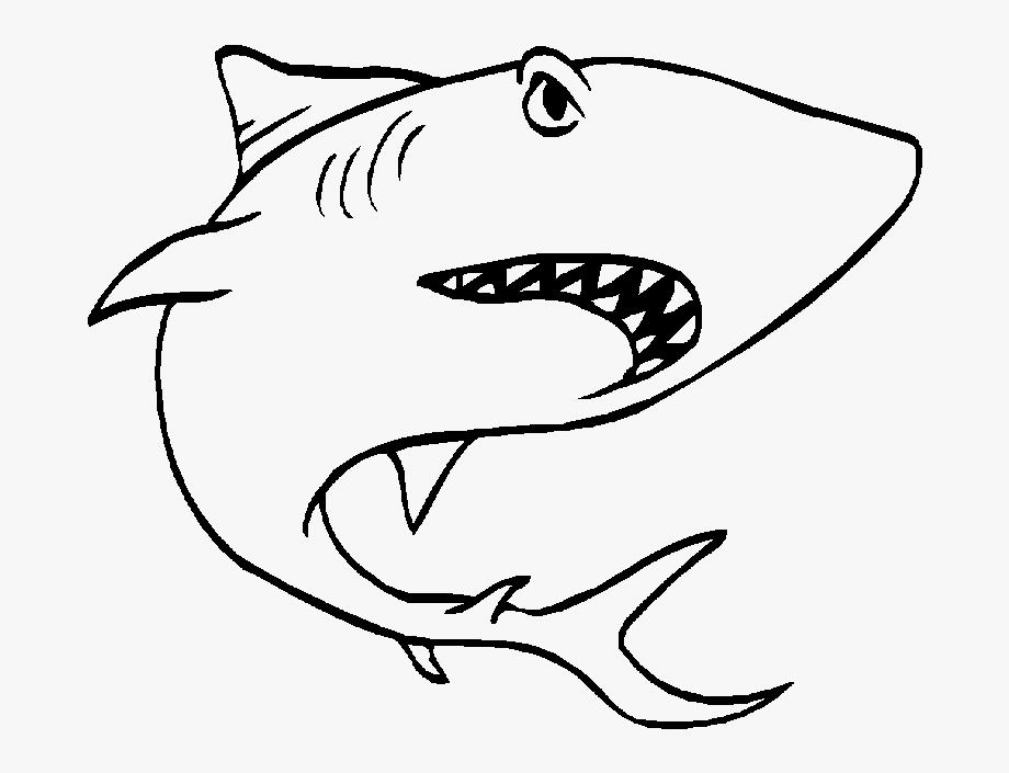 Shark Clipart Black And White.