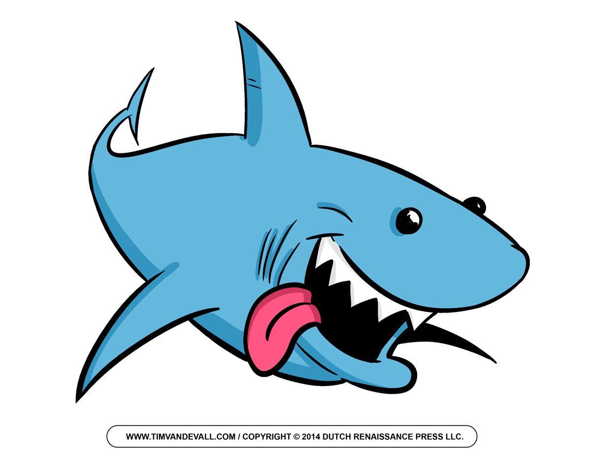 Free Cartoon Shark Clipart, Shark Outline and Shark Silhouette.
