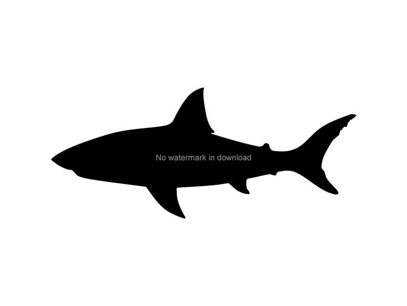 Shark Clipart, Shark Svg, Shark Clip Art, Shark Silhouette, Shark Vector,  Shark Png, Ocean Clipart, Instant Download, Shark Dxf Png Svg.