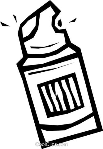 shaving cream Royalty Free Vector Clip Art illustration.