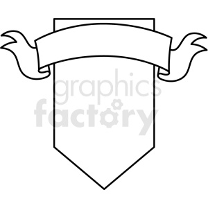doodle notes elements banner with shield clipart. Royalty.