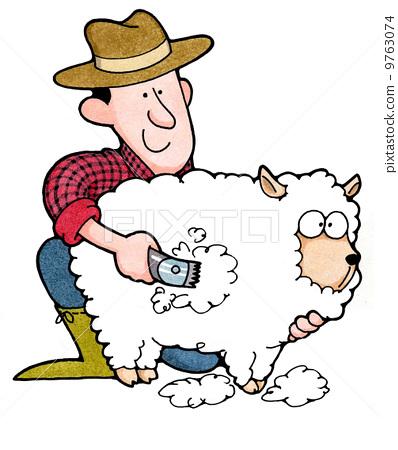 Sheep Shearing Cartoon Free Download Clip Art.