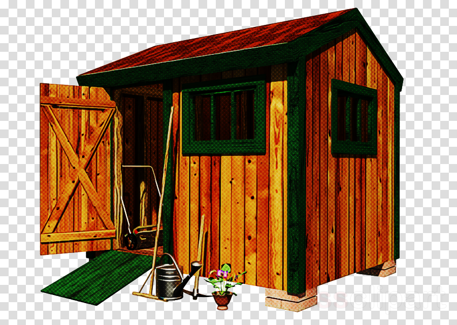 shed log cabin shack outhouse garden buildings clipart.