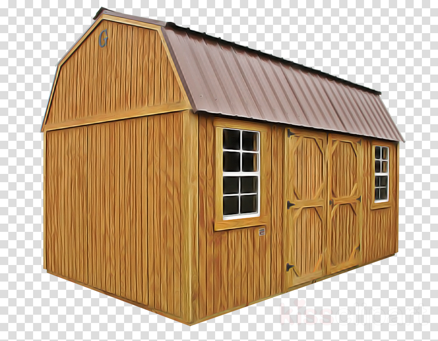shed building barn roof house clipart.