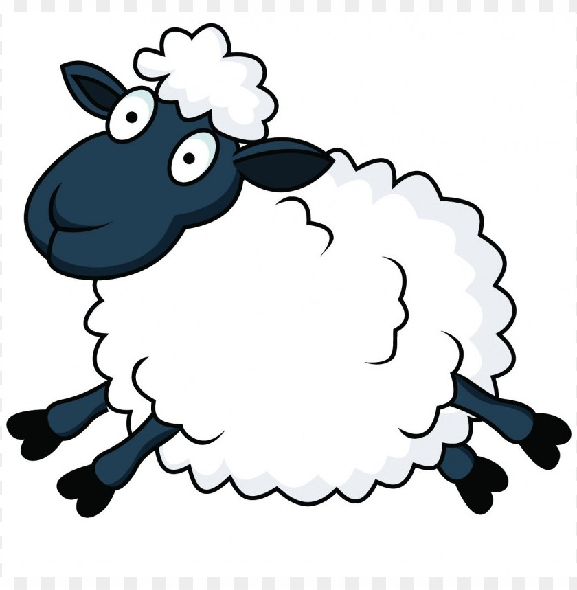 sheep clipart PNG image with transparent background.